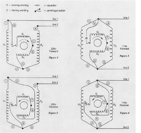 single phase dual voltage motor wiring diagram 6 lead