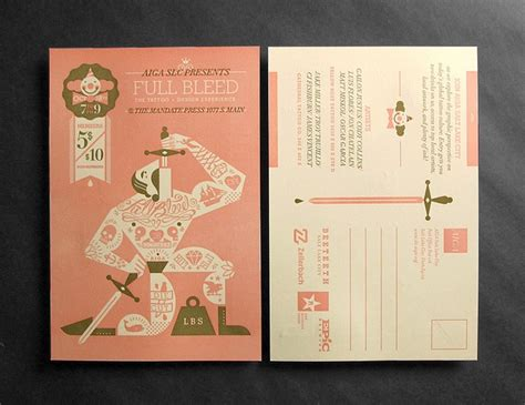 tattoo paper called promotional poster and postcard for aiga slc event called