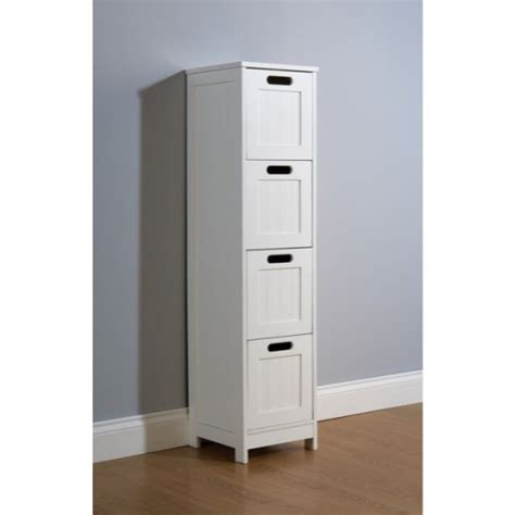 White Multi Use Bathroom Storage Unit 4 Drawer Cabinet Cupboard Shaker Style Ebay White Bathroom Chest Of Drawers Floor Standing Bath