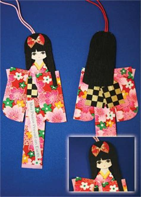 How To Make Japanese Paper Dolls - origami paper doll bookmark
