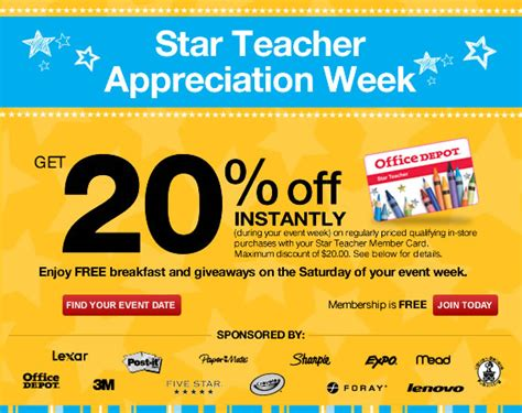 Office Depot Coupons For Teachers Office Depot Appreciation Day 8 11 20
