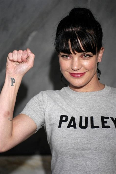 pauley perrette tattoos real stylish pauley perrette tattoos