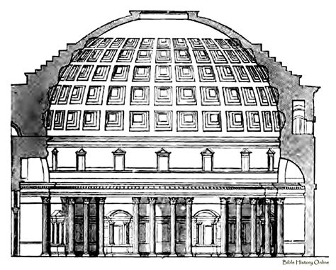 Plan Drawing Online section ot the pantheon images of ancient pantheons