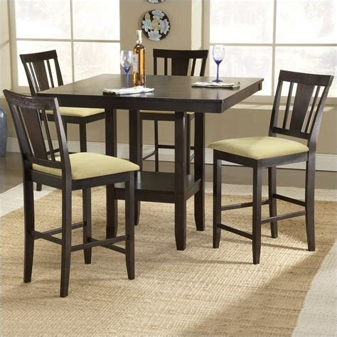 Casual Dining Table Hillsdale Arcadia Square Counter Height Casual Dining Table In Espresso Finish 4180 835ym