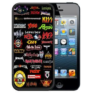 for iphone xr xs max 8 7 6s plus 80s rubber cover rock band metal ebay