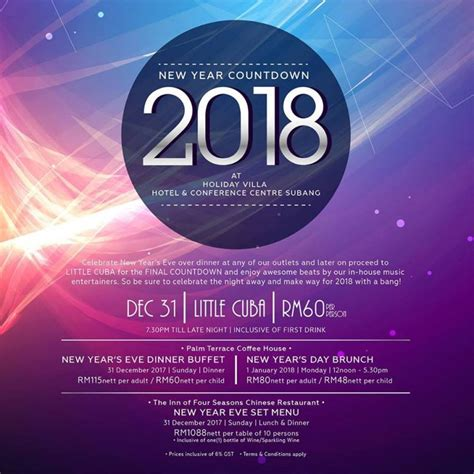 new year 2018 buffet kl 22 best places to celebrate new year s in malaysia 2018