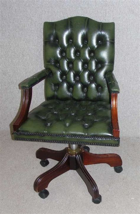 vintage green leather office chair antiques atlas 1960s green leather office chair