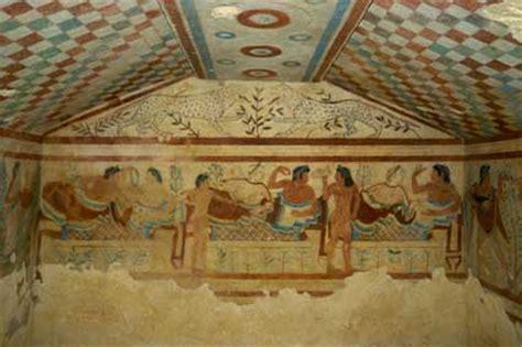 tomba degli scudi e delle sedie la storia degli etruschi