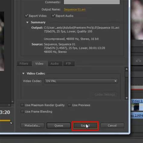 export adobe premiere file how to export in premiere pro cs6 howtech
