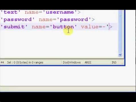 php tutorial user login php tutorials user login system part 1 4 youtube