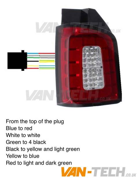 vw led lights vw t5 t5 1 led clear barn door replacement rear lights