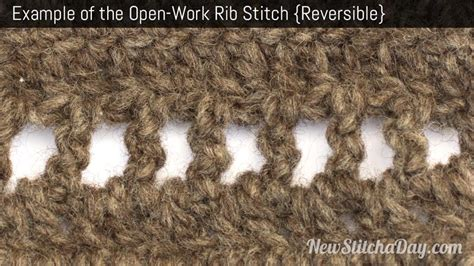 the open chain ribbing stitch knitting stitch 112 how to crochet the openwork rib stitch crochet stitch