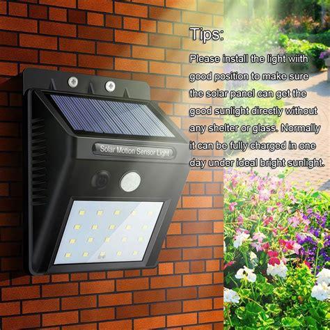 solar powered outdoor motion lights solar powered outdoor lights led waterproof motion sensor