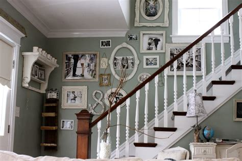 stairs decorating ideas staircase shabby chic style with