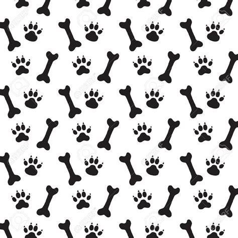 dog pattern wallpaper background dog paw print bone vector stock vector 1300