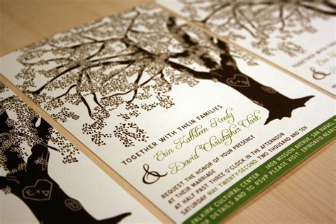 Oak Tree Wedding Invitations grandfather oak tree wedding invitations sle customized