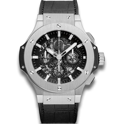 Hublot Senna Silver Black hublot aero steel big stainless steel watches