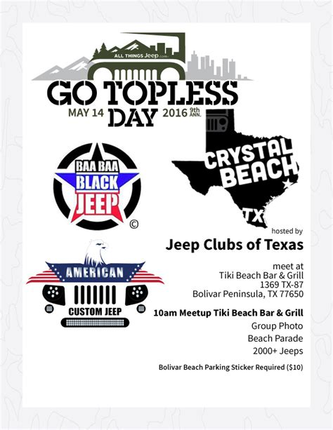 jeep beach logo all things jeep go day 2016 crystal beach texas