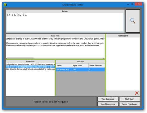 test regex sharp regex tester portable