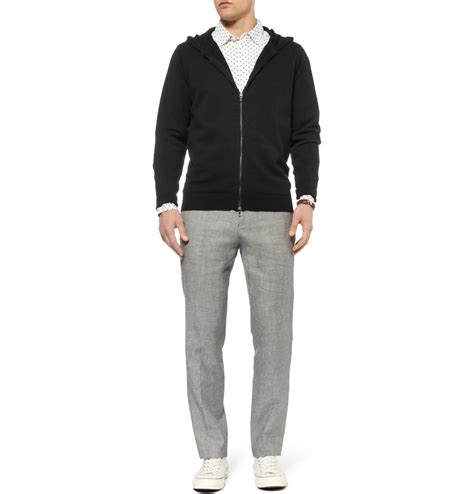 Hoodie Sweater As Roma 5 smedley roma hoodie in black for lyst