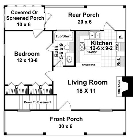 free house plans with basements the weekender 5713 1 bedroom and 1 5 baths the house