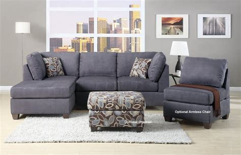 Charcoal Gray Sectional Sofa With Chaise Lounge Gray