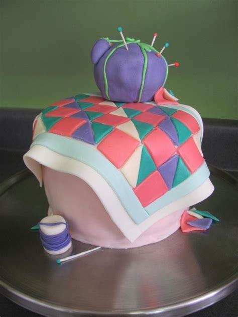 Quilting A Cake by Sewing Quilt Cake Birthday Cake Photos Cakes Baskets