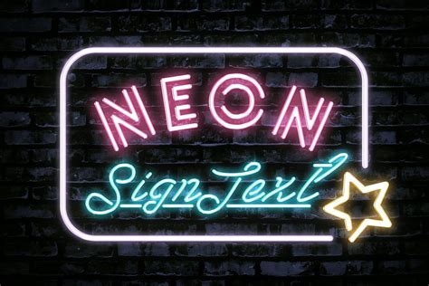 Free Neon Sign Text Effect Creativetacos Neon Sign Template