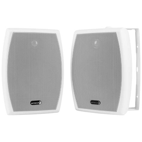 Speaker Indoor dayton audio io655w 6 1 2 quot 2 way indoor outdoor speaker pair white indoor outdoor finished