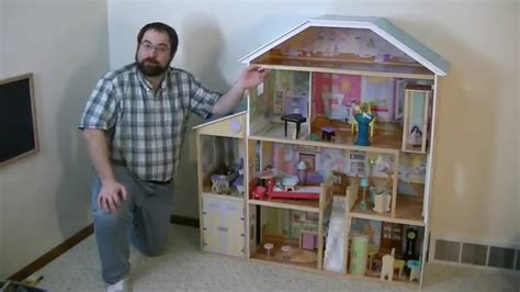 majestic doll house kidkraft majestic mansion dollhouse with furniture review youtube