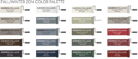 sherwin williams fall winter 2013 color palette paint my home paint colors