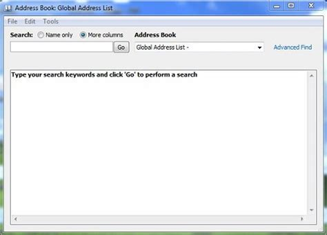 Address Book Lookup How Do I View The Global Address List Gal Its Knowledge Base