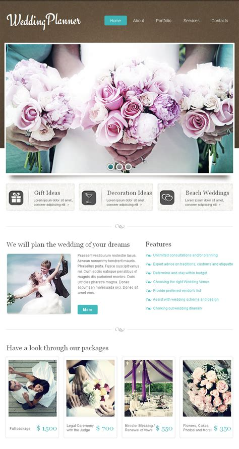 Wedding Cms by Wedding Planner Html Cms Template 42591