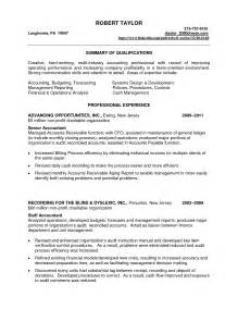 accounting cv template accounting clerk resume exle