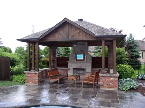 Pool Sheds And Cabanas Oakville By Shademaster Landscaping Backyard Pool House