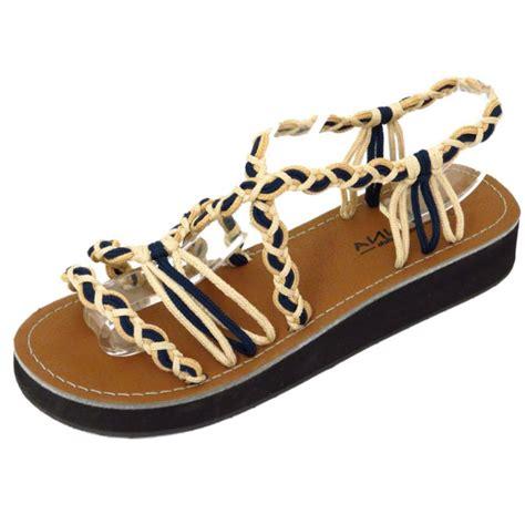 navy low wedge gladiator strappy summer sandals