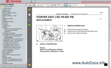 repair manuals toyota corolla 2004 repair manual toyota corolla verso 2001 2004 service manual repair manual order download