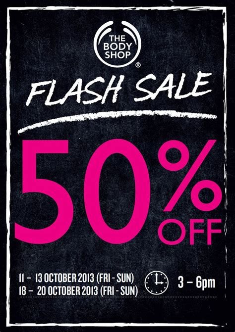 body shop  pm flash sale  discount  selected