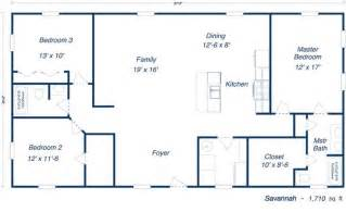 metal building floor plans savannah steel home kit plan open layout floorplans