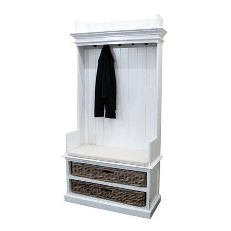 vestiaire blanc en bois massif torini meuble d entr 233 e