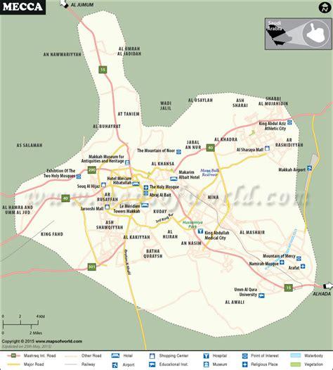 printable jeddah road map makkah map macca map
