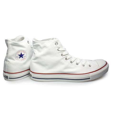 all white mens sneakers converse white hi all canvas mens womens trainers