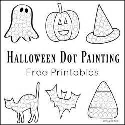 Halloween Ornaments Halloween Dot Painting Free Printables The Resourceful Mama