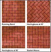 clay brick pavers patterns