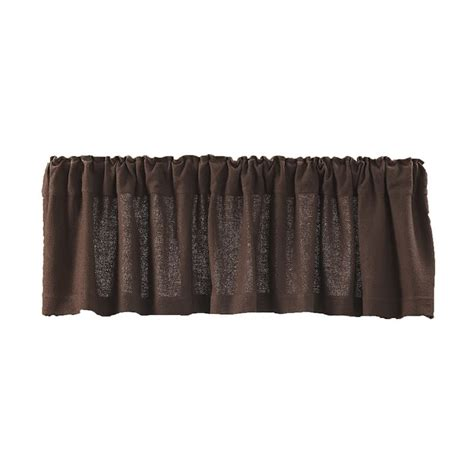 Chocolate Curtains With Valance Burlap Chocolate Curtain Valance