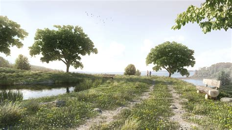 In The Meadow of the meadow with sketchup skatter 3d