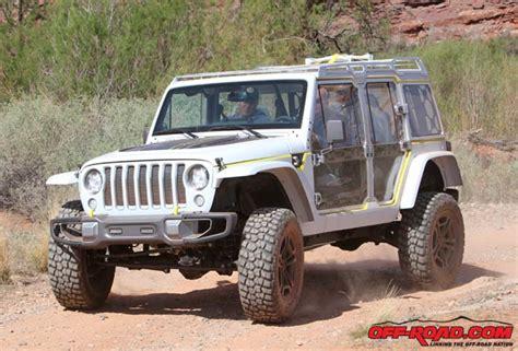 future jeep wrangler concepts jeep safari concept future wrangler jl teaser road