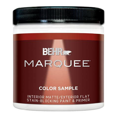 behr marquee exterior paint reviews behr marquee 8 oz base matte interior exterior paint
