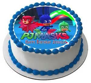 pj masks 2 edible cake topper amp cupcake toppers edible prints cake epoc