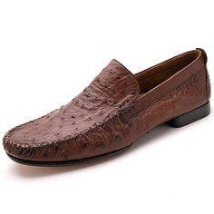 ostrich skin loafers by zelli shoes from tuscany italy slip into this